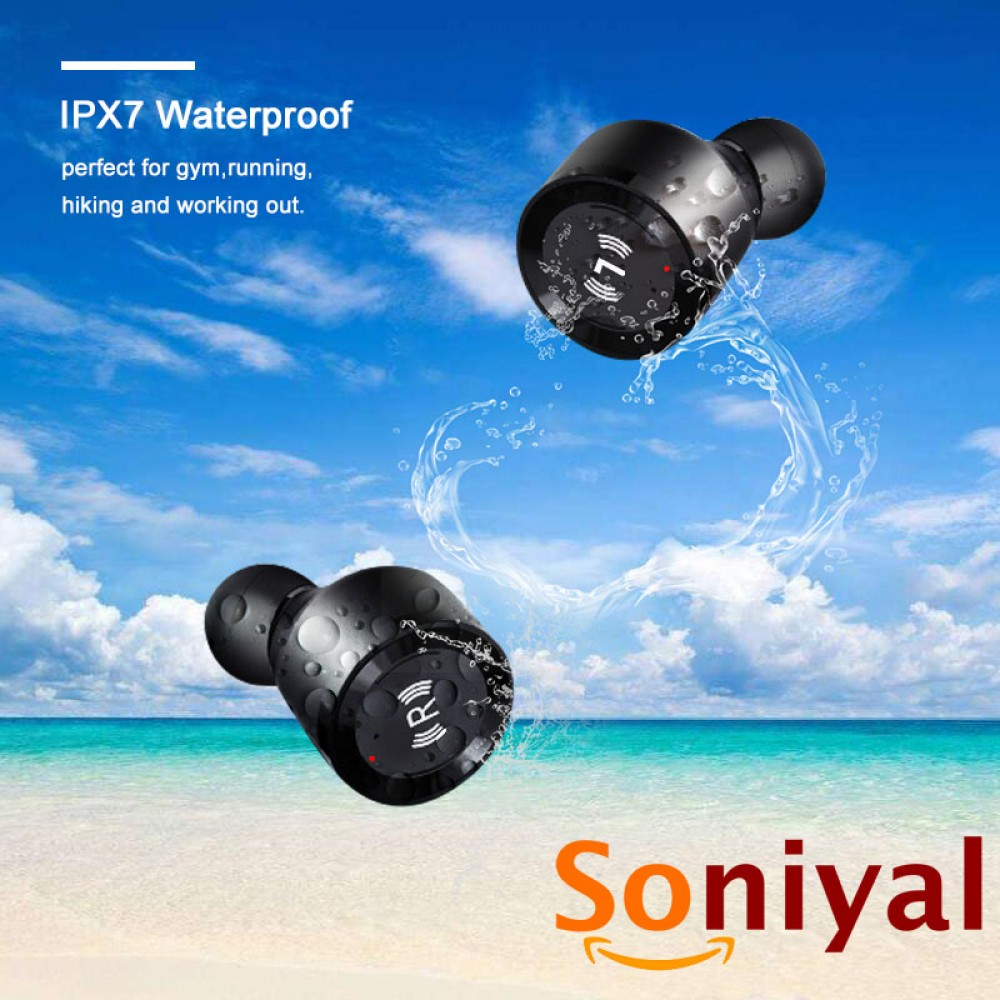 Soniyal S5 TWS True Wireless Headset IPX7 Waterproof V5.0 Bluetooth Earphones Stereo Earbuds Microphone with Charging Box handsfree headphone