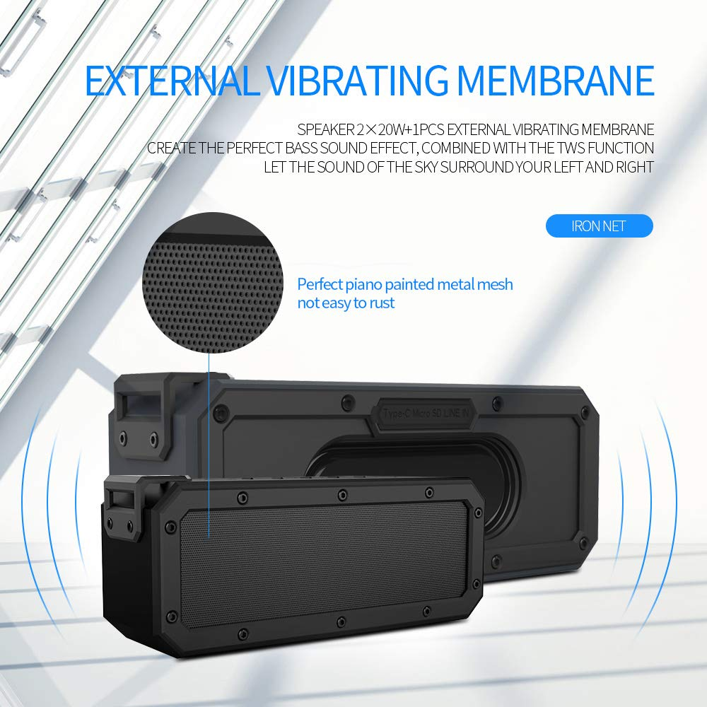 Bass Boosted X3PRO TWS Portable Outdoor Bluetooth Speaker