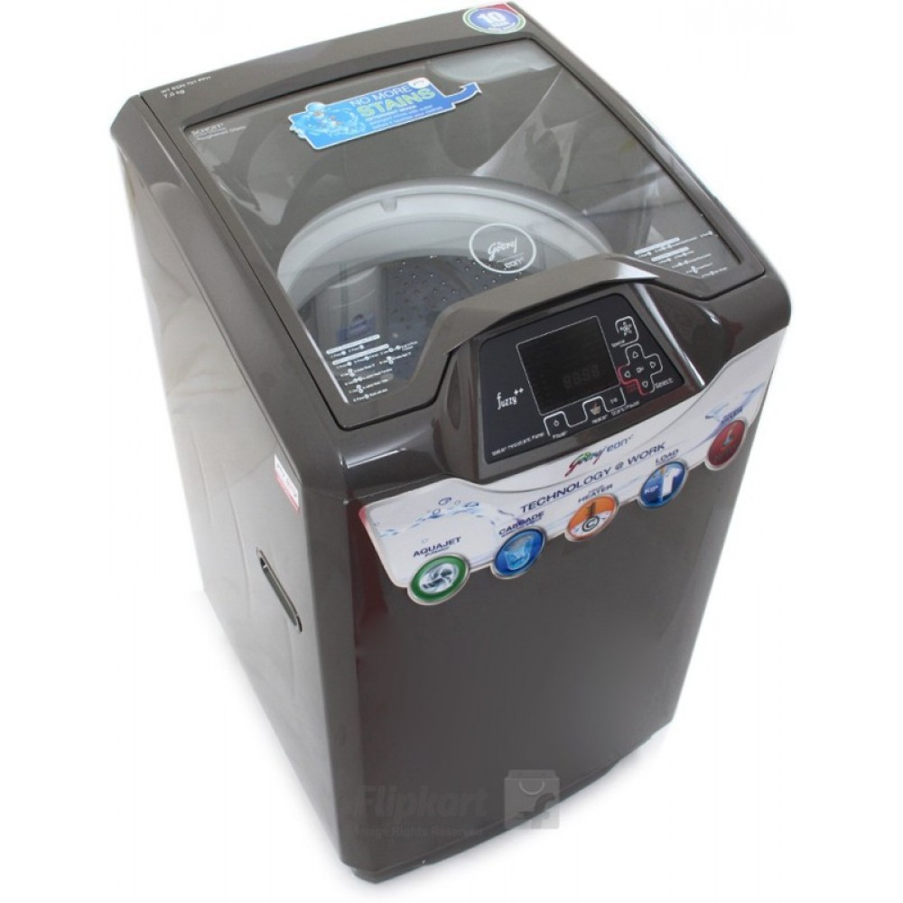 Godrej 7 kg Fully Automatic Top Load with In-built Heater Grey(WT Eon 701 PFH)
