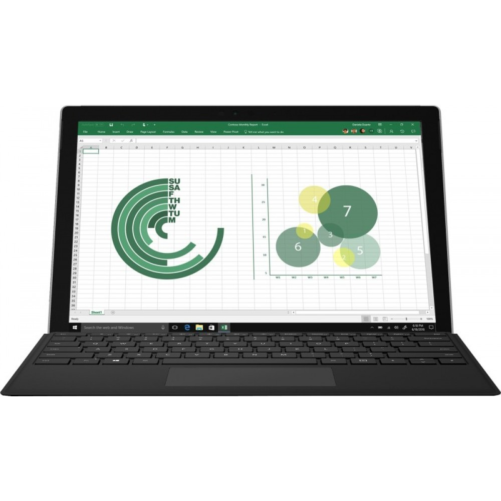 Microsoft Surface Pro Core i5 7th Gen - (8 GB/256 GB SSD/Windows 10 Pro) 1796 2 in 1 Laptop(12.3 inch, Silver, 0.77 kg)