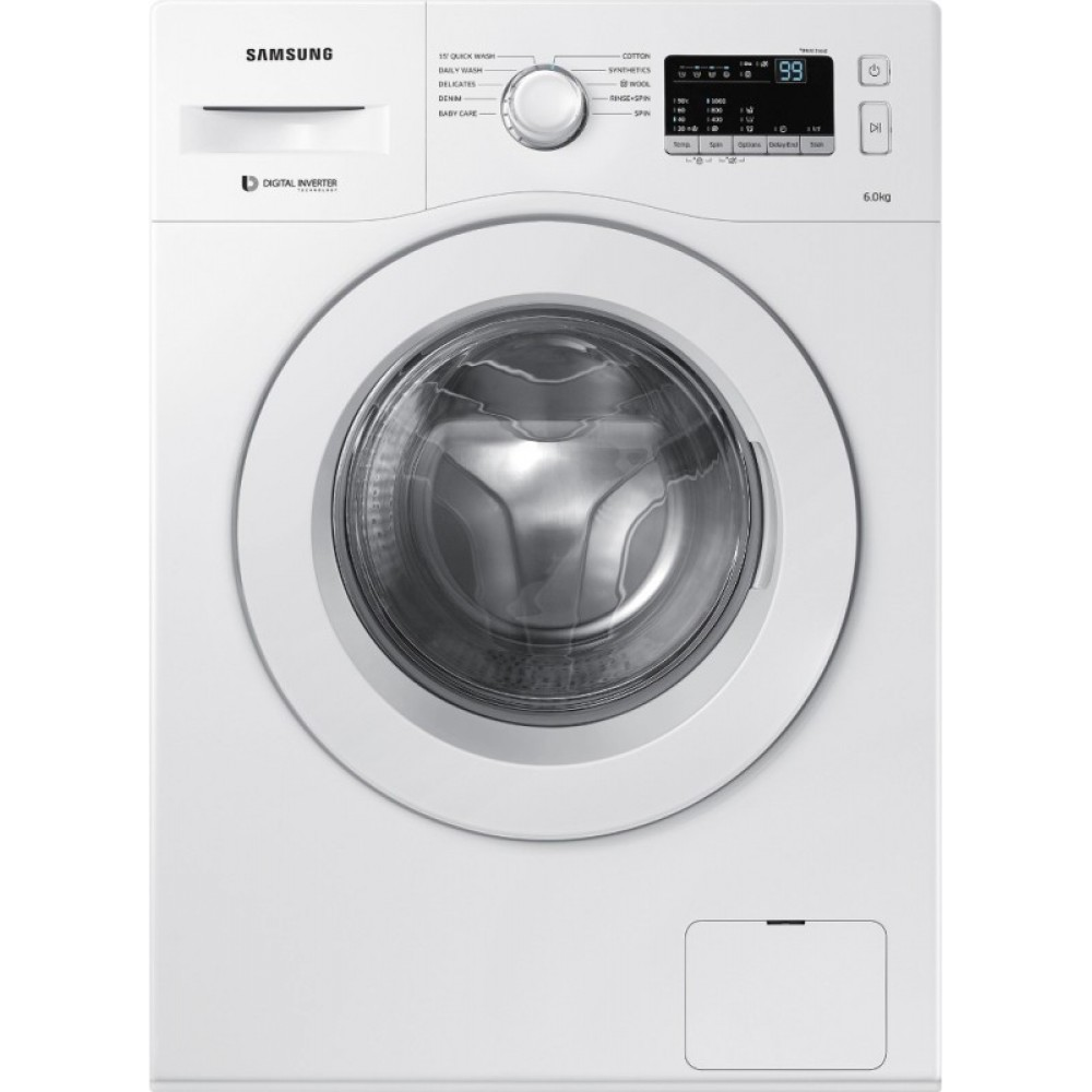 Samsung 6.5 kg Inverter Fully Automatic Front Load with In-built Heater White(WW65M206L0W/TL)